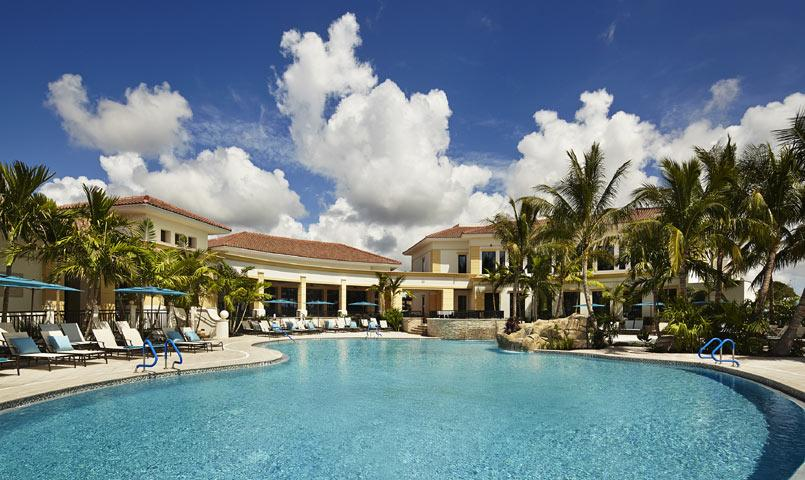 The Sports Village features a pool side Bistro and a resort pool complex.