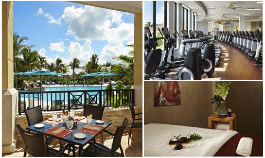 The Sports Village includes a 15,000 square foot fitness center, casual Bistro and a Spa.
