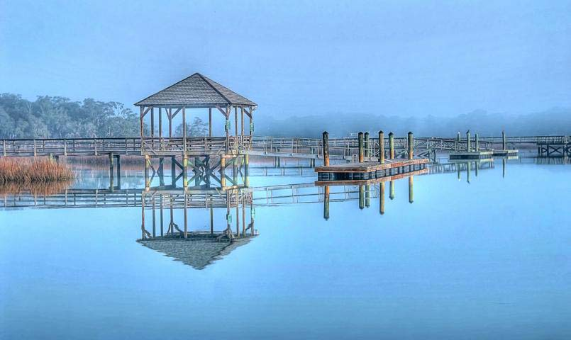 Docks on Battery Creek at Islands of Beaufort