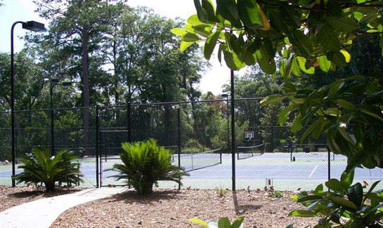 Tennis courts at Islands of Beaufort