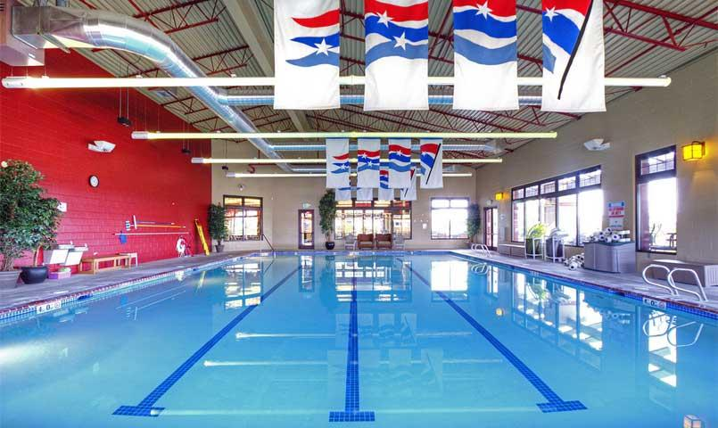 Indoor Olympic-style swimming pool