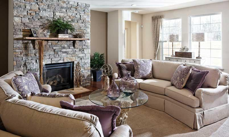 Berry Hill model living room
