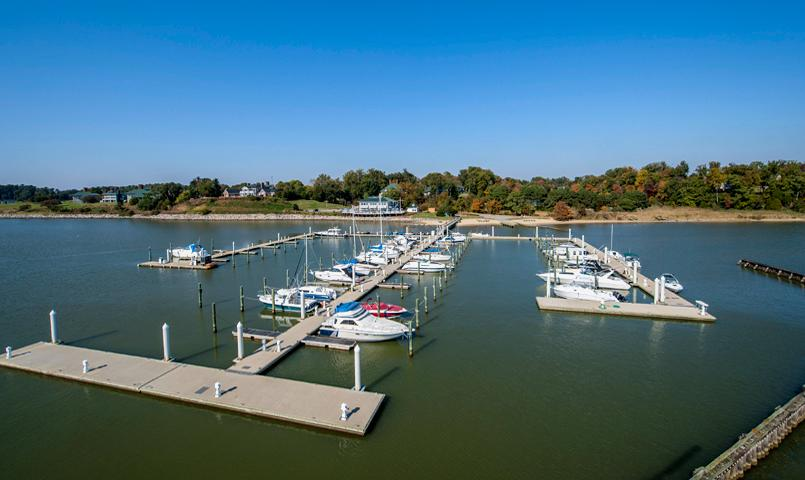 The full-service Marina at Kingsmill on the James in Williamsburg, VA
