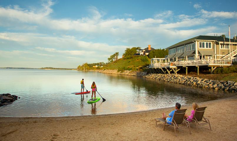 Paddle boarding at Kingsmill on the James River in Williamsburg, VA
