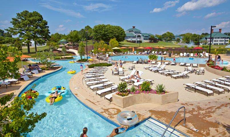 Outdoor swimming pool at Kingsmill on the James in Williamsburg, VA