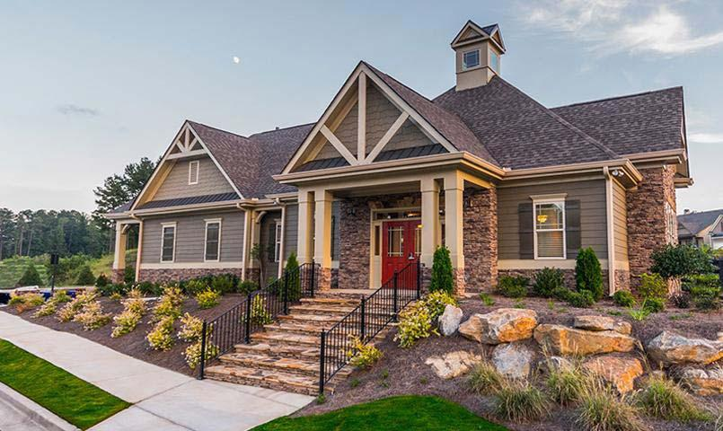 Naturewalk at seven hills resort and active adult for Craftsman style homes in okc