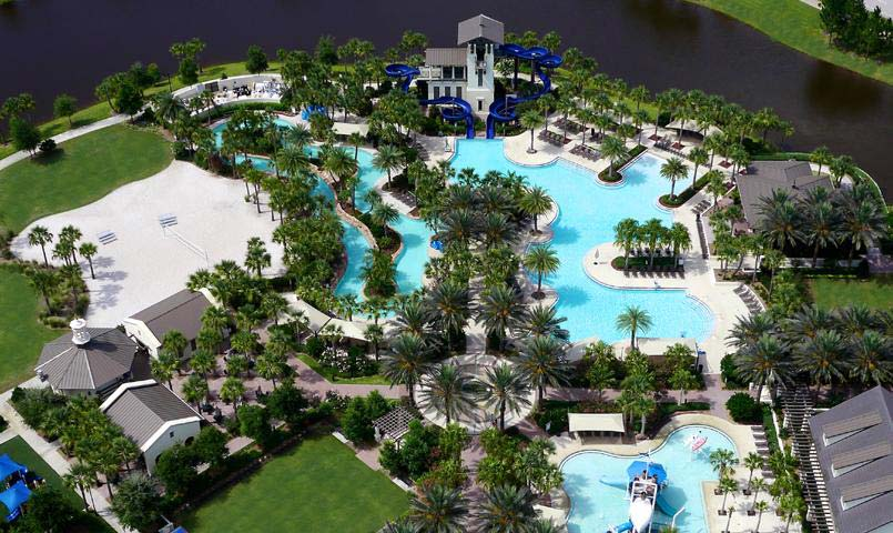 Aerial view of Nocatee's Splash Water Park.