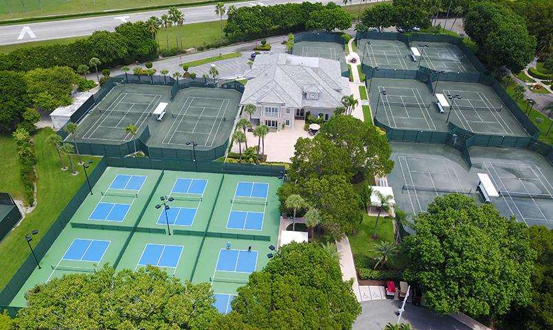Ocean Reef Club's Tennis Center offers 20 courts, plus six lighted pickleball courts.