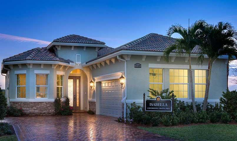 One of 12 models at PGA Village Verano, the Isabella, is a 2-Bedroom, 2-Bath home with Den, Great Room and 2-Car Garage