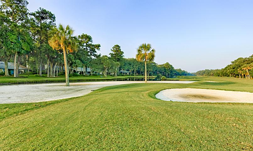 Golf course at Palmetto Dunes