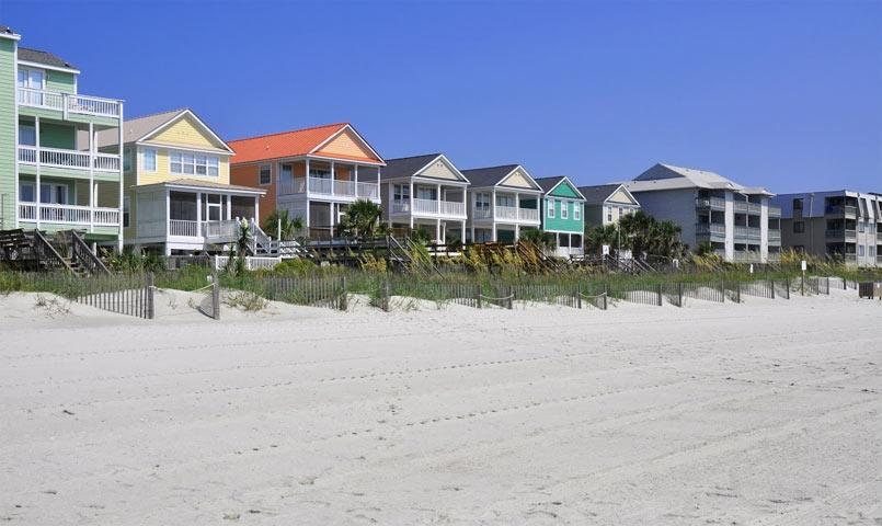 Oceanfront homes at Palmetto Dunes