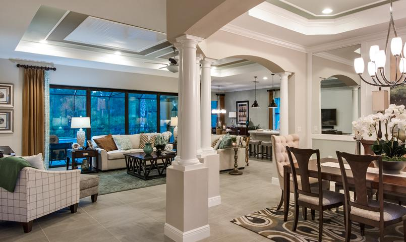 Interior view of the Donatello model home at Pelican Preserve