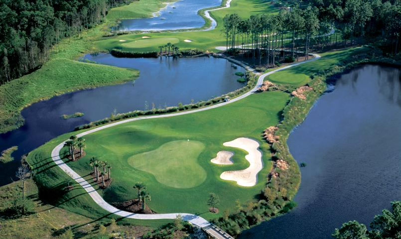 Pelican Preserve's championship golf course and natural preserve surroundings.