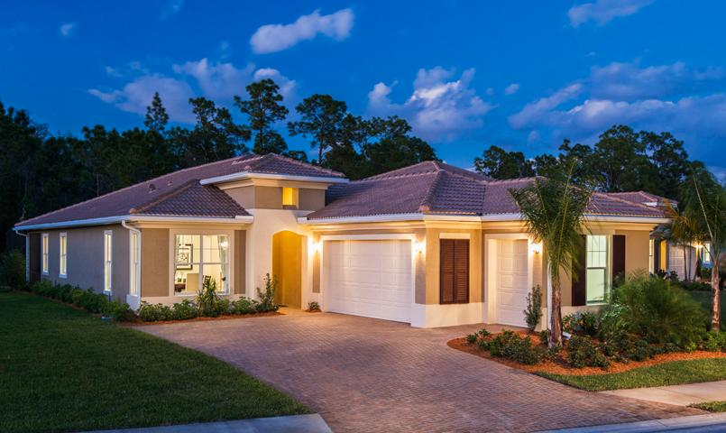 The San Remo model home at Pelican Preserve