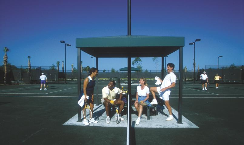 Tennis facilities include six lighted Har-Tru tennis courts at Pelican Preserve