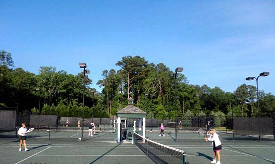 Tennis facilities at Porters Neck Plantation include seven lighted Hydro/clay courts
