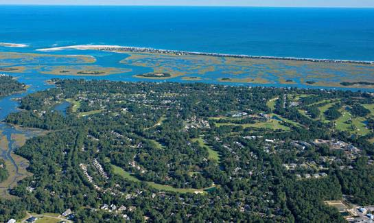 Aerial view of Porters Neck Plantation