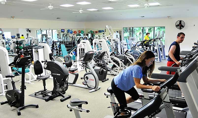 The fully staffed Health and Fitness Center at Quail Ridge Country Club offers the latest strength and cardio machines, aerobics and yoga classes.