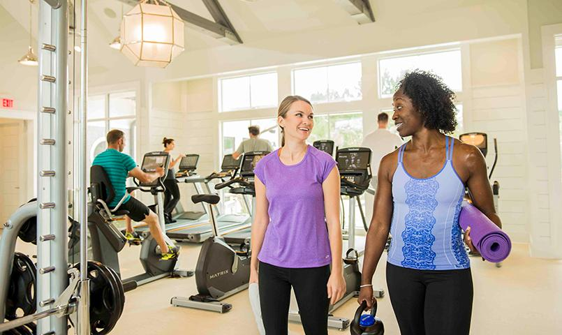 State of the art equipment and motivating fitness pros help keep you active at the fitness center.