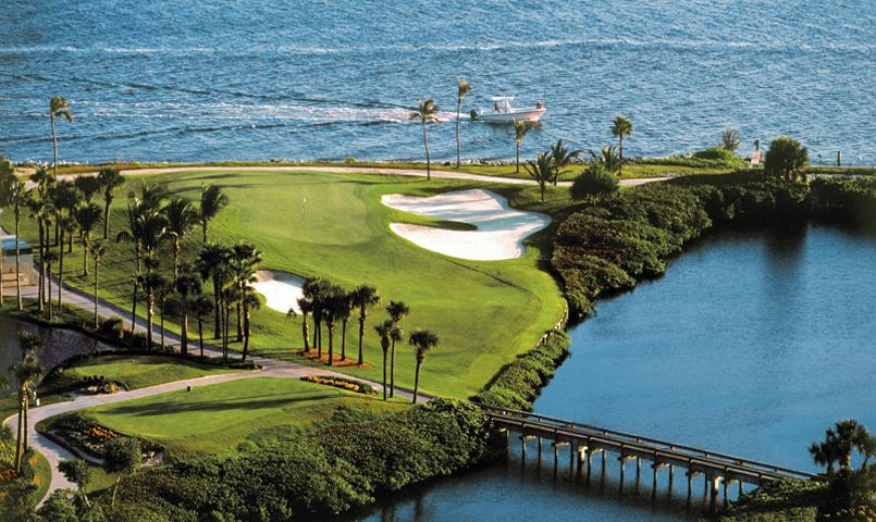 The private 72-par Jack Nicklaus Signature golf course at Sailfish Point is situated on the ocean, river and inlet with water on all holes.
