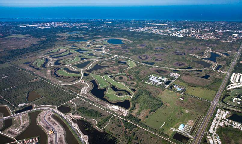 Aerial view of Sarasota National