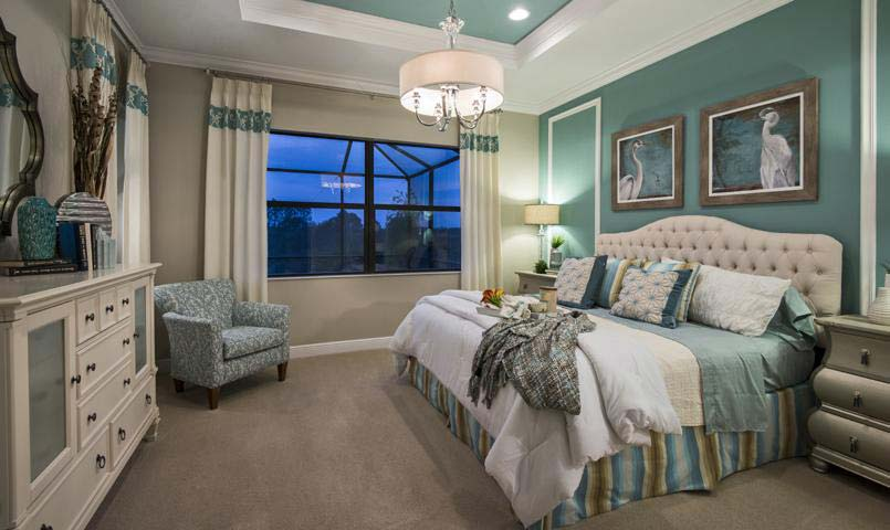 Sarasota National's Medina Model - Master Bedroom