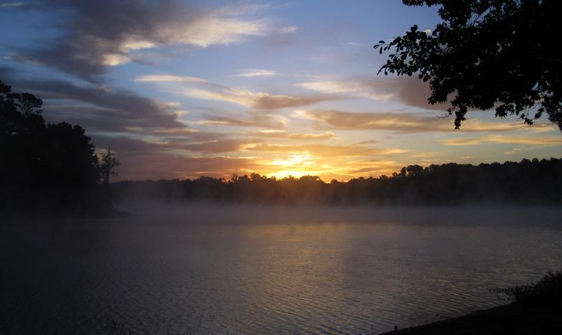 Sunrise on the Little River Blueway at Savannah Lakes Village