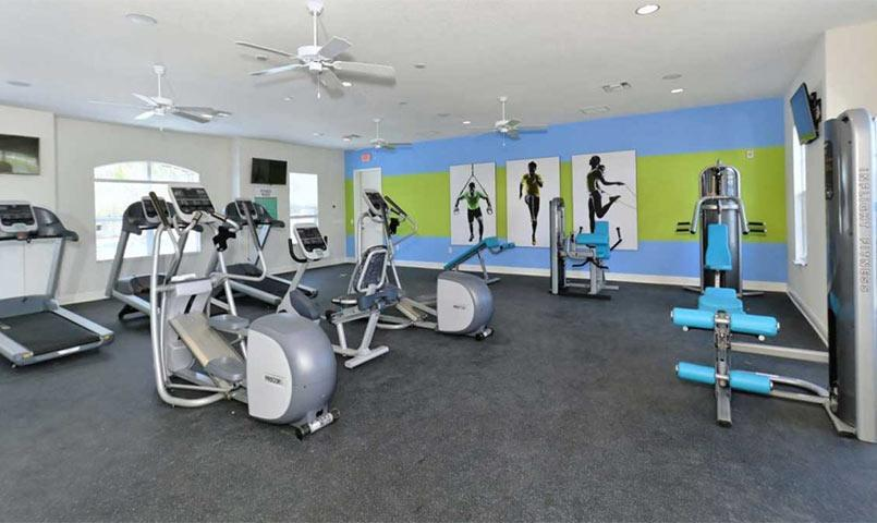 Fitness center at Silverleaf community in Parrish, FL