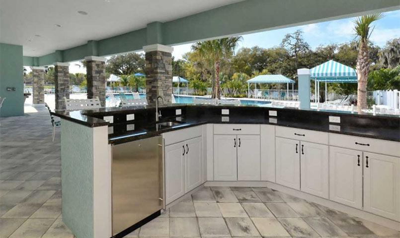Outdoor kitchen at Silverleaf community in Parrish, FL