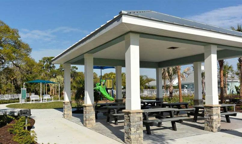 Picnic shelter at Silverleaf community in Parrish, FL