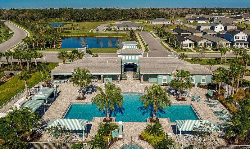 Swimming pool at Silverleaf community in Parrish, FL