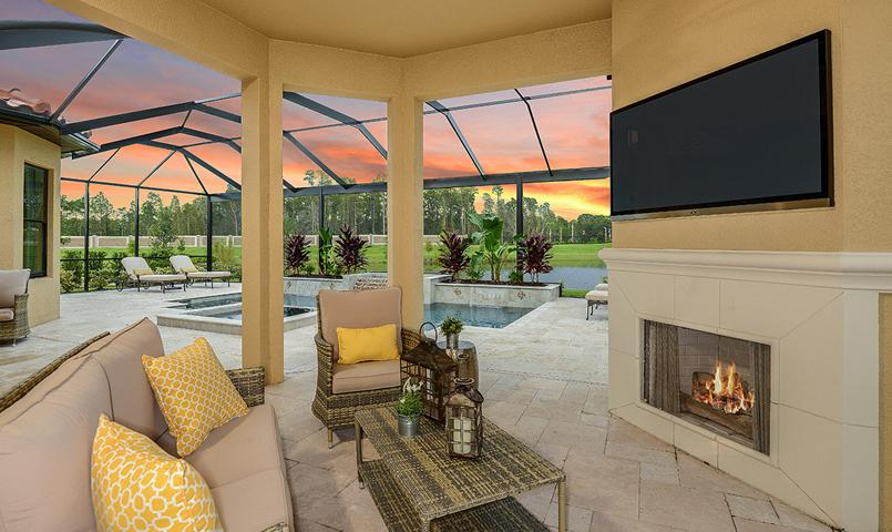 Pallzio VII Model Home - Outdoor Living Area