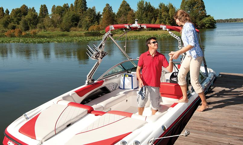 For those whose homes are not directly on the water, the community boat ramp provides easy access to the water.