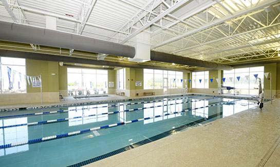 Sr. Olympic Size indoor pool at Argent Lakes