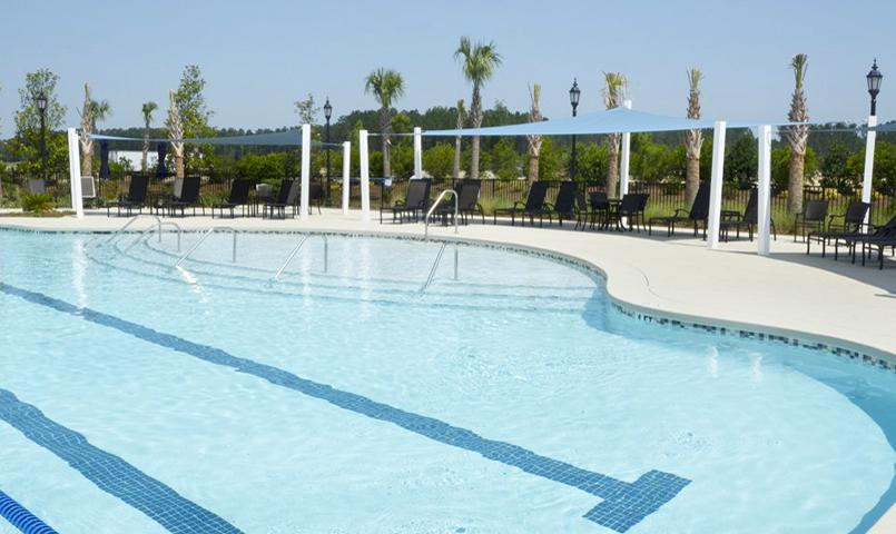 1 of 3 outdoor swimming pools at Sun City Hilton Head by Del Webb