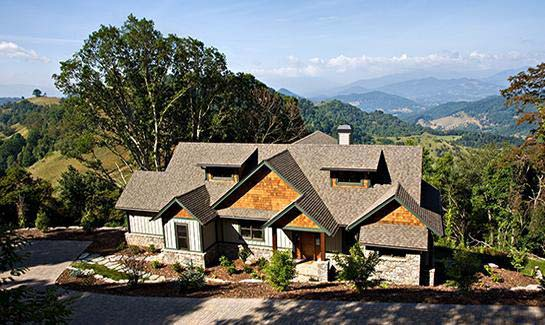 Custom-built residence on Long View Trail within Sunset Falls at Bald Creek