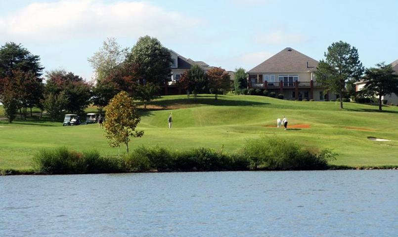 Homes on the golf course at Tellico Village in Loudon, TN