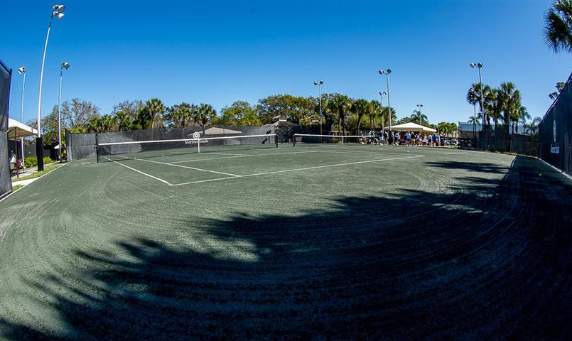Center court at the championship Tennis Center in Mariner Sands.