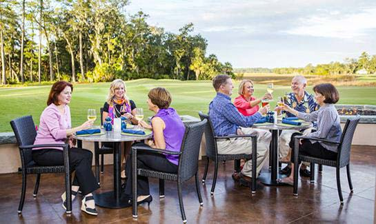 Dine with friends at four Clubhouse restaurants