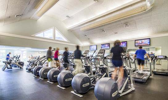 Stay fit at the State-of-the-Art Fitness/Wellness Center