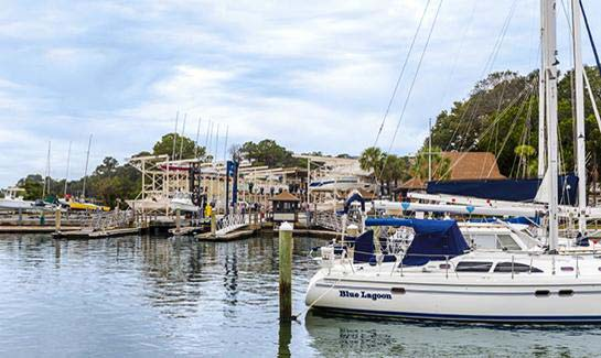 Enjoy boating from two deep-water marinas