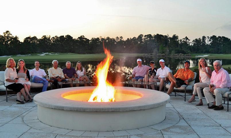 firepit at club