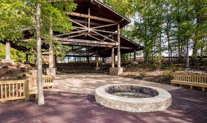 Outdoor amphitheater at Tree Tops