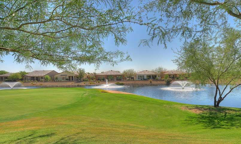 Homes with water and golf course views