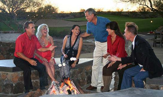 Trilogy® at Wickenburg Ranch members at fire pit