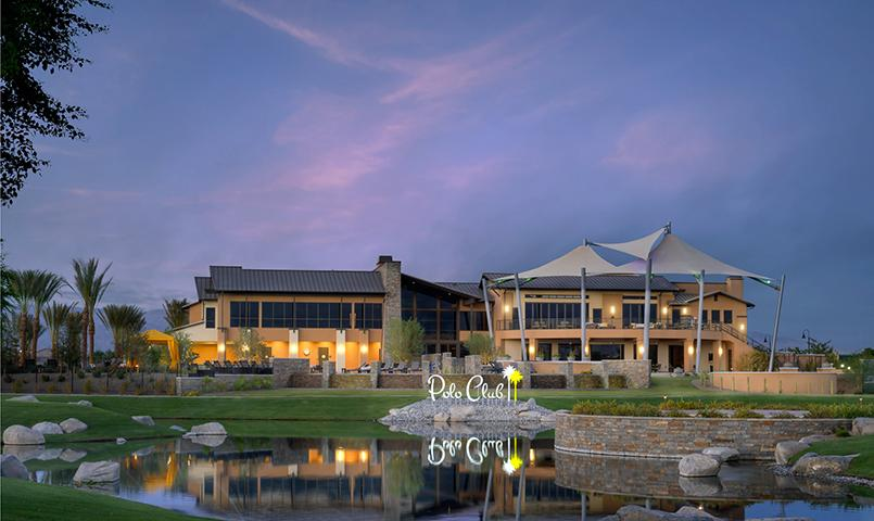 Exterior view of the Polo Club, the 25,000 square foot community clubhouse at Trilogy at The Polo Club