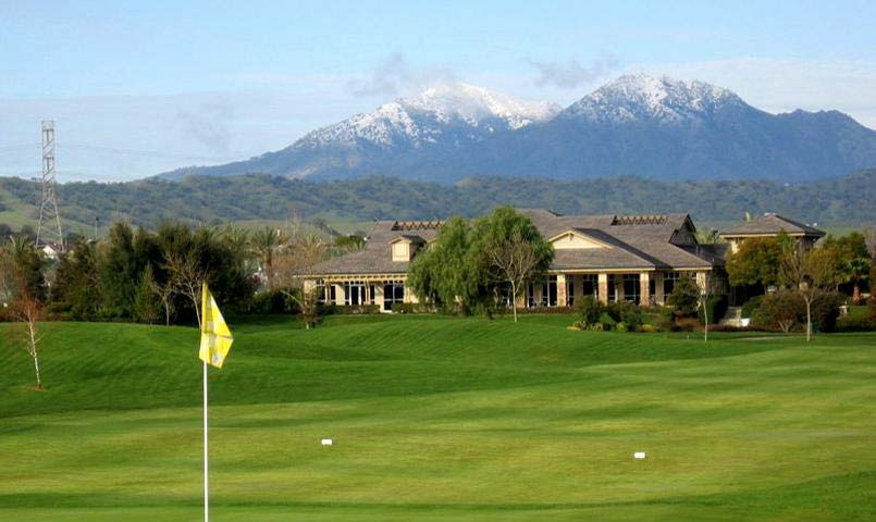 Championship golf course and Mount Diablo