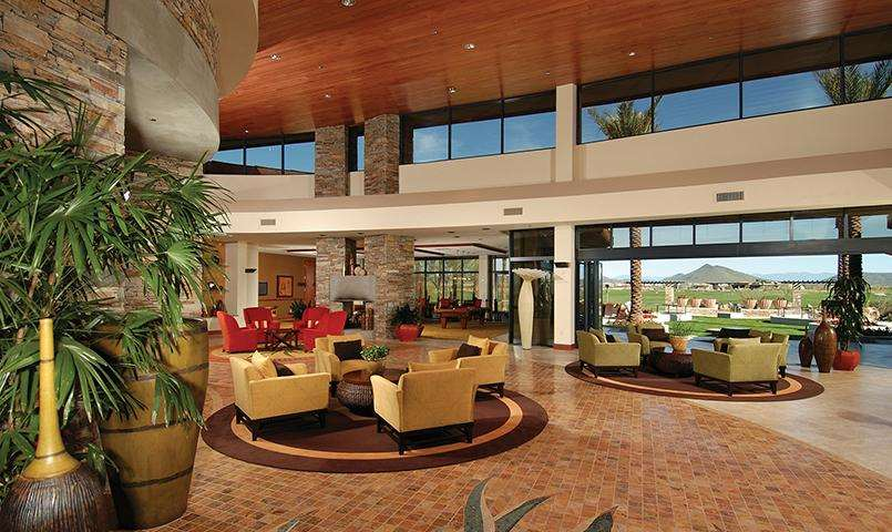 The Kiva Club's lobby at Trilogy at Vistancia