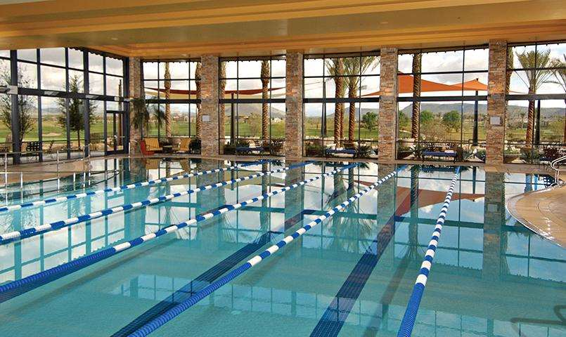 The Kiva Club's indoor Olympic-style pool at Trilogy at Vistancia