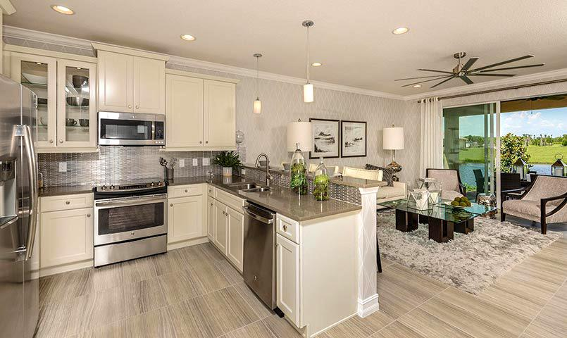 Nantucket model kitchen at Valencia Bonita